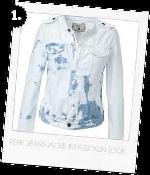 Pepe jeans im angesagten Flecken Look