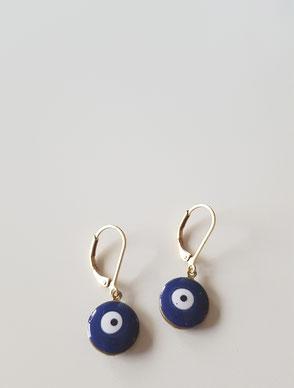 Pendientes evil eye BLUE