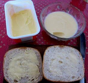 noch einmal der Vergleich zu handelsüblicher Margarine
