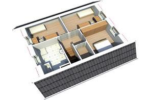 Innenansicht Ausstattung Obergeschoss Nordkap 110