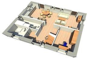 Innenansicht Ausstatung Haus Mälmö 130 Erdgeschoss