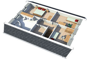 Innenansicht Ausstattung Mälmö 130 Obergeschoss