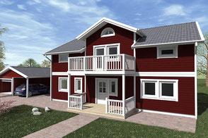 Schwedenhaus Nordkap 150 aussen