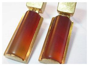 Ohrhänger, 750er Gold, Karneol