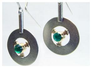 Ohrhänger mit grünen Turmalinen