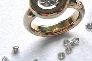 Hochwertige Anfertigungen mit und ohne Diamanten und Brilanten
