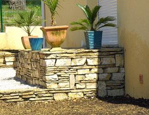 Murets maçonnerie paysagère Sommières Gard