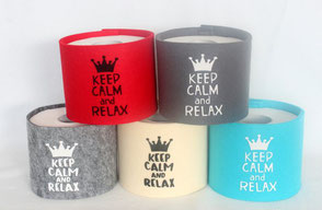 WC-Papier-Manchette Keep Calm and Relax