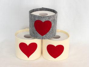WC-Papier-Manchette Herz