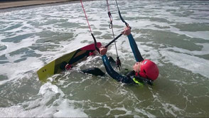 Kitesurfing at Sables d'Or