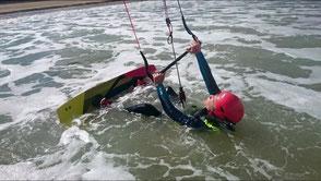 Kitesurfing at Sables d'Or