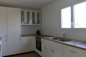 The entirely new kitchen