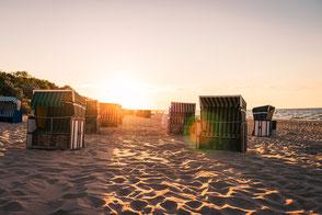 Strandkörbe mieten und Windsurfen auf Fehmarn