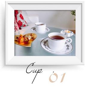 アロマテラピー&リンパドレナージュサロン、max day spaで使用しているエルメスのティーカップ