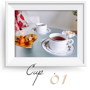 柏市柏アロマ&リンパドレナージュサロン max day spaで使用しているエルメスのティーカップ