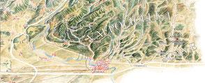 een historische kaart uit het 'Museo del Vino'. Klik op de kaart voor een grotere versie