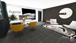 Conception espace bureaux partagés - Liège