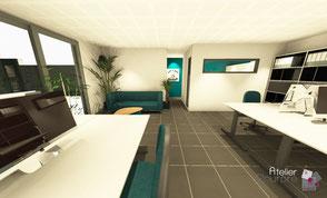 Conception espace bureaux - Liège
