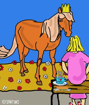 Sabine ließ sich in ihrer Mittagspause gerne einen vom Pferd erzählen....