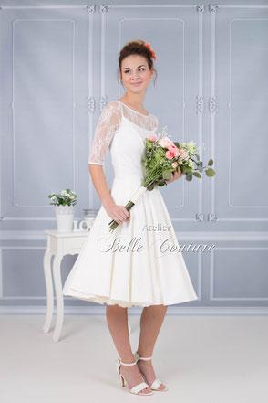 knielanges Brautkleid Saarland