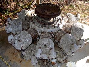 旧日本軍の飛龍のエンジンも鎮座している殉国七士廟