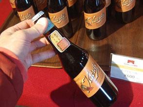 復刻されたカブトビール600円。半田赤レンガ建物で