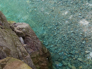 なんとも美しい色。ここで泳いでみたくなる