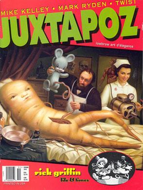 「birth」(1994年)。ファインアートのマイク・ケリーとともに商業作家のライデンは、ロウブロウ・アート誌に紹介される。