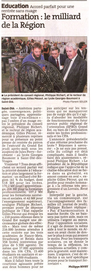 Article du 02 Septembre 2016