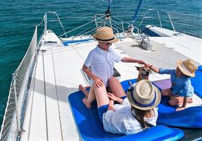 Familienurlaub Katamaran Balearen