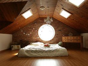 Aufgeräumtes Schlafzimmer