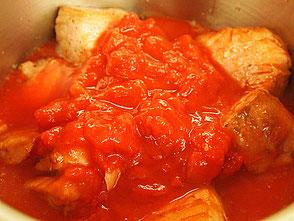 豚肉のほろほろトマトソース煮