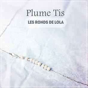 Bracelet fin perle d'argent diamantée