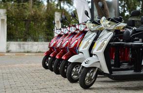 Assurance flotte loueur de deux roues scooter moto