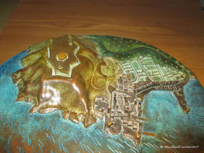 Plan-relief de Saint Tropez en bronze