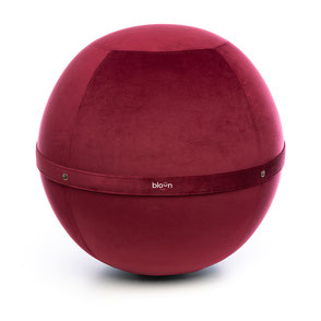 Siège Ballon Bloon Velvet Bordeaux Rubis ERGOaccessoires.com