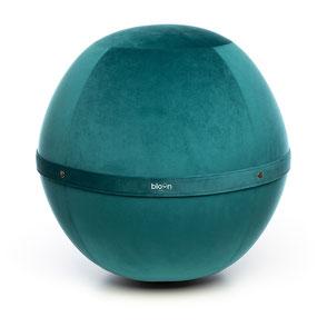 Siège Ballon Bloon Velvet Bleu Saphir ERGOaccessoires.com
