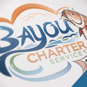 Bayou Charter Service Logo Design Lake Charles Louisiana