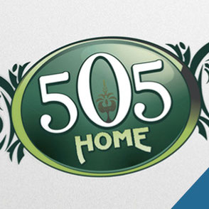 Lake Charles - 505 Home Logo Design