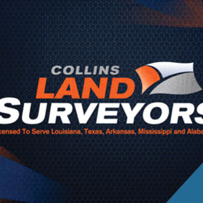Collins Land Surveyors Logo Design Lake Charles Louisiana