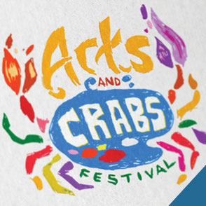 Arts and Crabs Festival Logo Design Lake Charles Louisiana