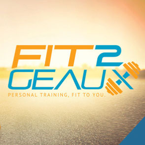 Fit 2 Geaux Logo Design Lake Charles Louisiana