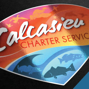Calcasieu Charter Service Logo Design Lake Charles Louisiana