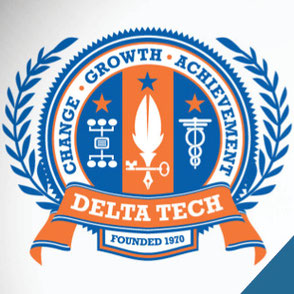 Lake Charles - Delta Tech Academic Seal Logo Design