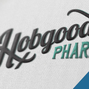Hobgood Pharmacy Logo Design Lake Charles Louisiana