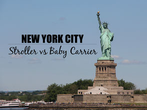 NYC with a baby. Stroller or baby carrier
