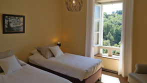 Guest room Vienne with 2 single beds and shower
