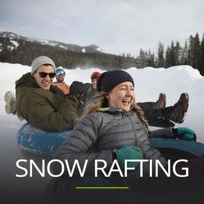 Snow Rafting als Teamevent in der Steiermark