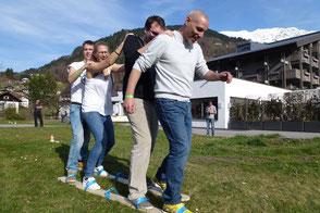 Teamevent Teilnehmer beim Riesenski