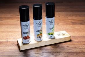 Premium Saunaaufguss Geschenksets von Odoro Essenzen.